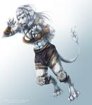 {Commission} - Viking lioness by LeoKatana