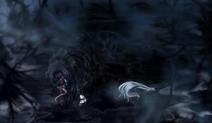 Ink Dog Demon of Dark Forest by LeoKatana