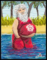 Santas Aussie Christmas by Astarsia