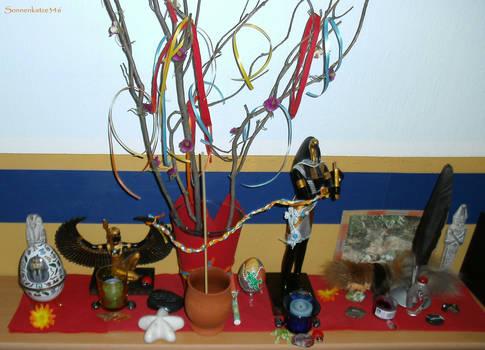 Beltane altar after ritual