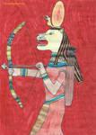 Sekhmet picture colored