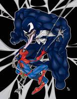 Spider-man Vs. Venom by symbolx
