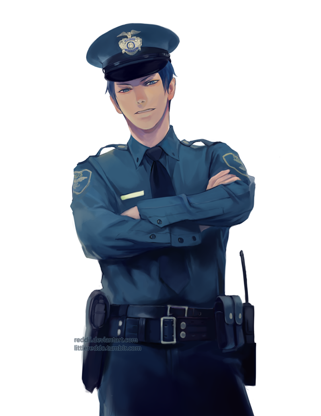 Officer Aomine by reddii