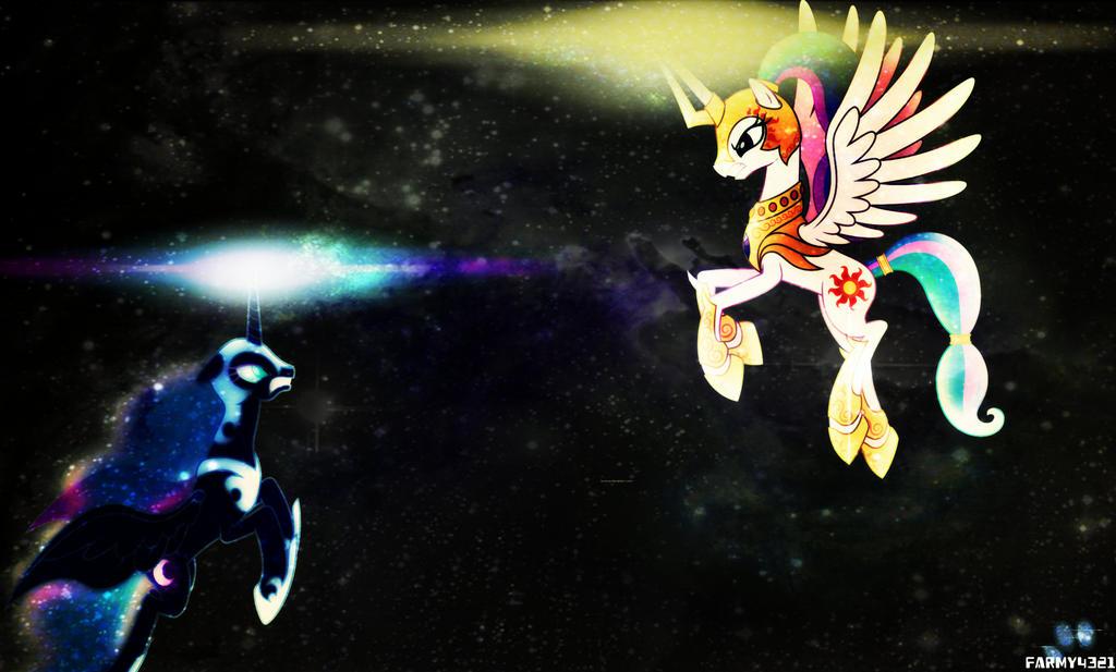 Celestia Vs Nightmare Moon by farmy4321 on DeviantArt