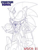 Cybertron Sonic Ver.1 by Rafeal