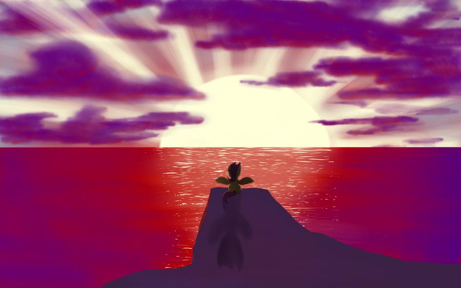 Scootaloos Sunset by LivingDeadJkr