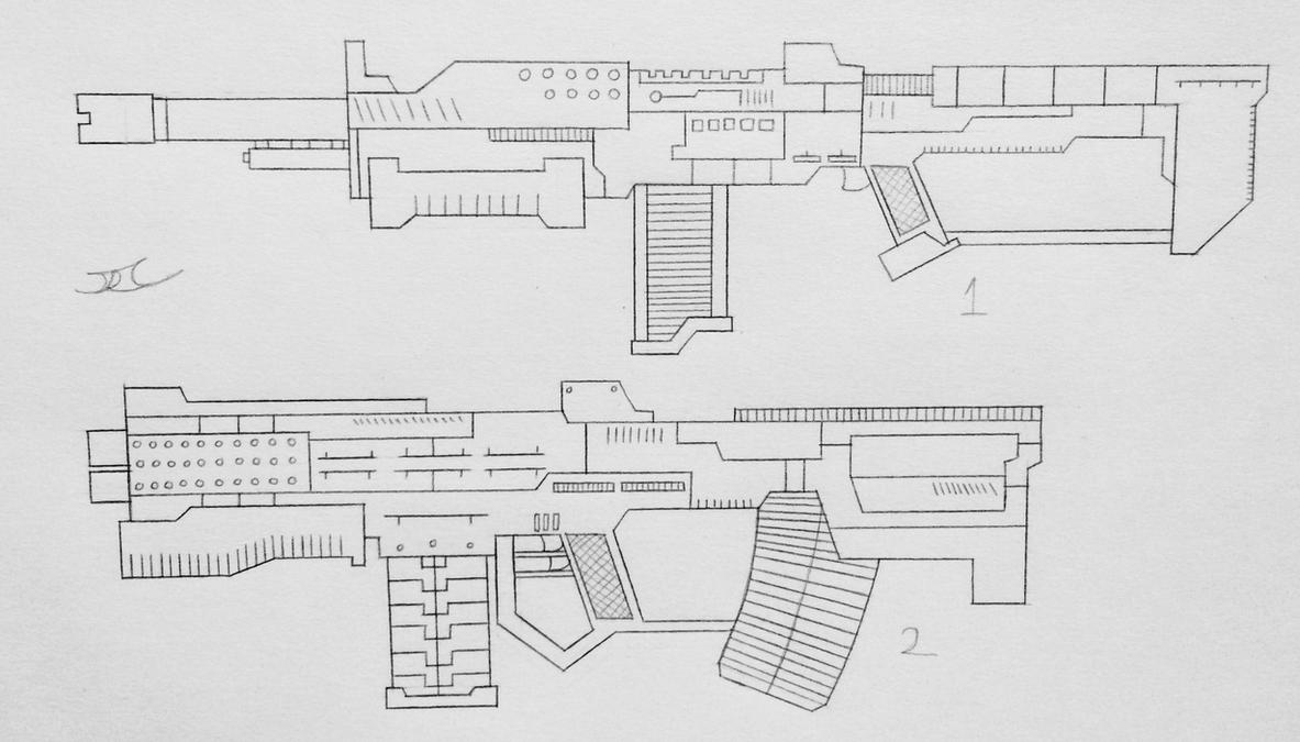 Weapons of the USN: Assualt Rifles 5 (Project A) by AngelOfNope