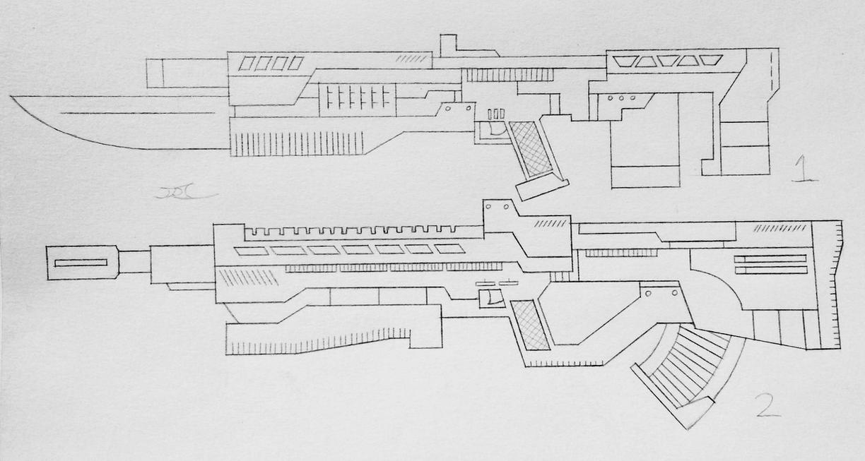 Weapons of the USN: Assualt Rifles 7 (Project A) by AngelOfNope