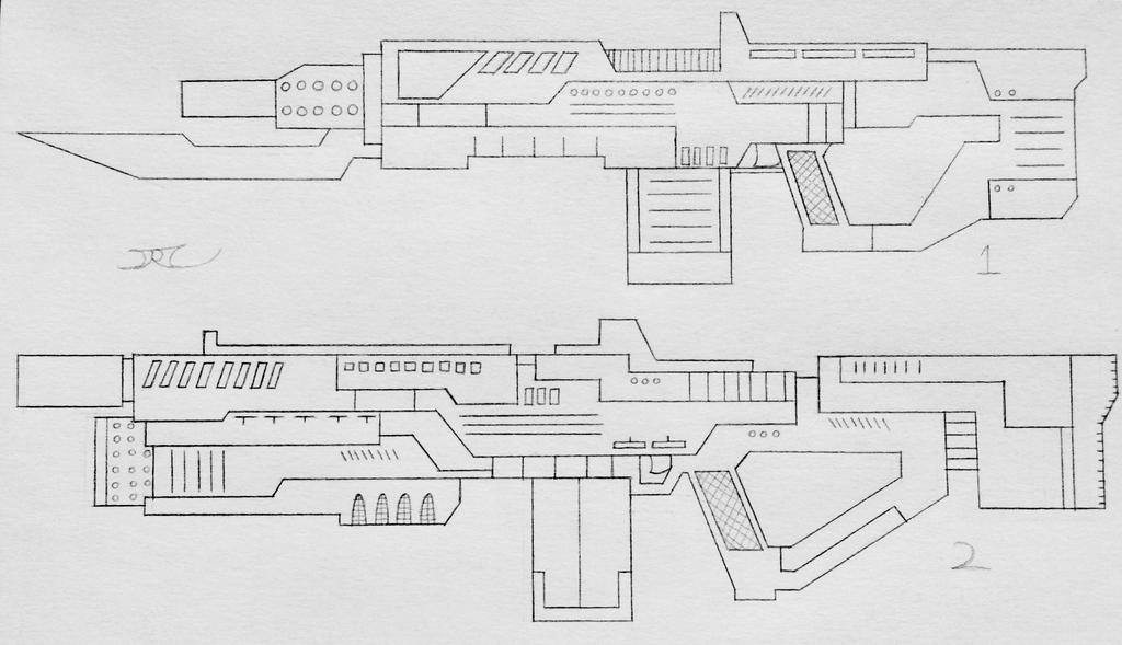 Weapons of the USN: Assualt Rifles 8 (Project A) by AngelOfNope