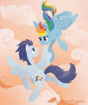 Above the Clouds - Rainbow and Soarin