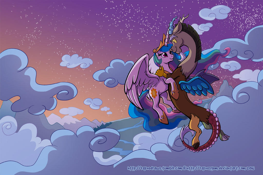 Sunset Dance - Celestia and Discord