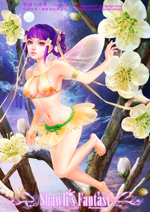 Flower Fairies Collection - Plum Blossom Fairy by shawli2007
