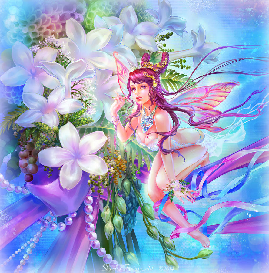 Stephanotis Flower Fairy by shawli2007