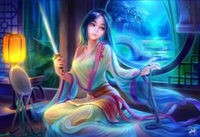 Sword Night-Mulan by shawli2007