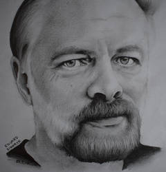 Philip Kindred Dick, pencil drawing portrait by Krema-ART