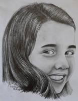 Samantha Smith, pencil drawing portrait by Krema-ART