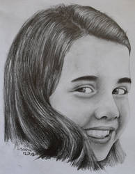 Samantha Smith, pencil drawing portrait by Krema-ART