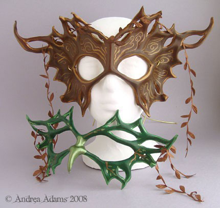 Leather Bird and Tree Masks by Beadmask