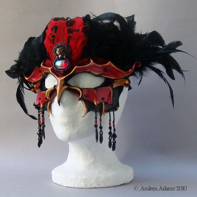 Burlesque Bird Mask by Beadmask