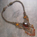 Amber Beadwoven Necklace