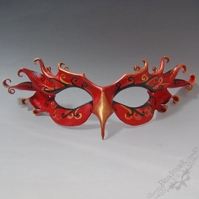 Leather Firebird Mask by Beadmask