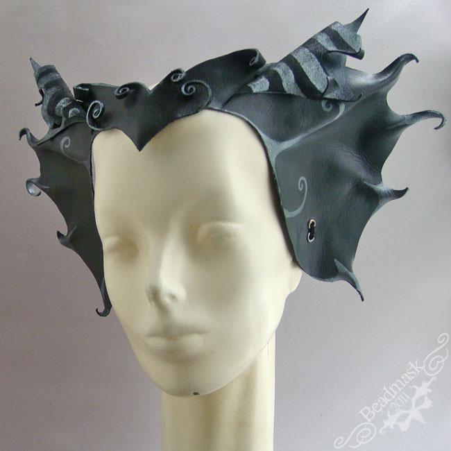 Dragonrider Leather Headpiece by Beadmask