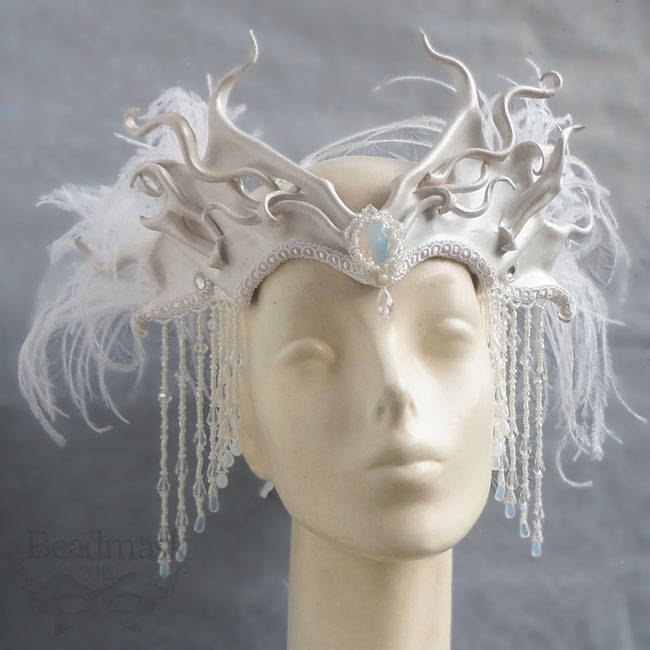 Snow Queen Leather Headdress by Beadmask