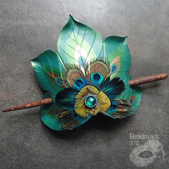 how to make a peacock fan