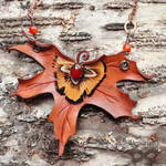 Fall Maple Leather Necklace