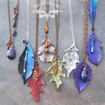 Beaded Leather Pendants
