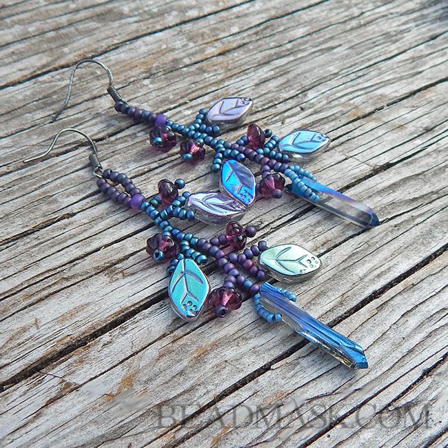 Quartz Garden Earrings by Beadmask
