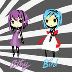 Athy and Bird by tenkkay