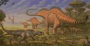 Apatasaurus, Allosaurus, Othnielia.