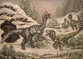 R. T. B. Raptor red's caves segnosaurus. by ABelov2014