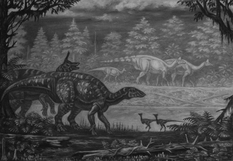 Amurosaurus, Tsintaosaurus. by ABelov2014
