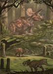 Triceratops horribus, Leptoceratops gracilis.