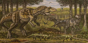 Saurophaganax maximus, Allosaurus flagilis by ABelov2014