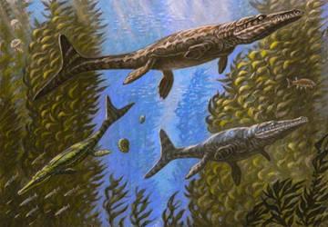 Plesiosuchus, Torvoneustes, Geosaurus by ABelov2014