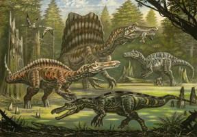 Spinosauridae by ABelov2014