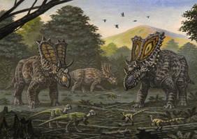 Chasmosaurinae by ABelov2014