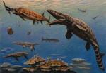 Hesperornis, Xiphactinus,  Tylosaurus
