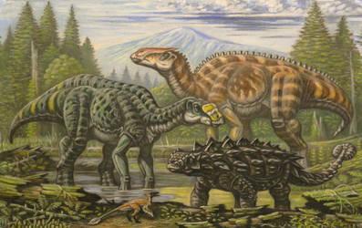 Gryposaurus, Brachylophosaurus, Zuul by ABelov2014