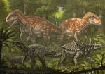 Acrocanthosaurus, Tenontosaurus, Sauropelta