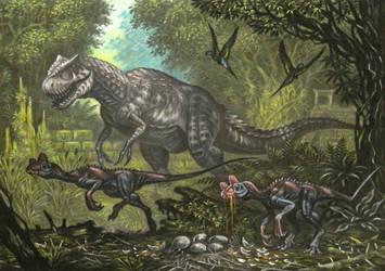 Acidactylus, Adlapsusaurus(king kong) by ABelov2014