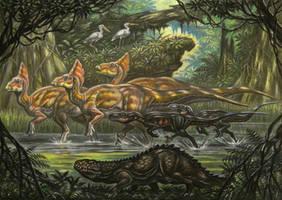 Ligocristu innocens.Venatosaurus impavidus
