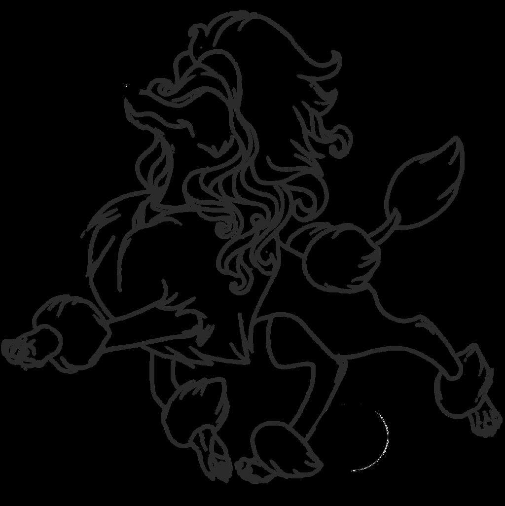 Line Art Vanity : Poodle line work by celtic vanity on deviantart