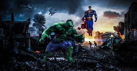 Hulk V Superman by VMR-PHOTOS