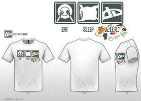 Eat Sleep ART t-shirt entry by Pooky-di-Bear