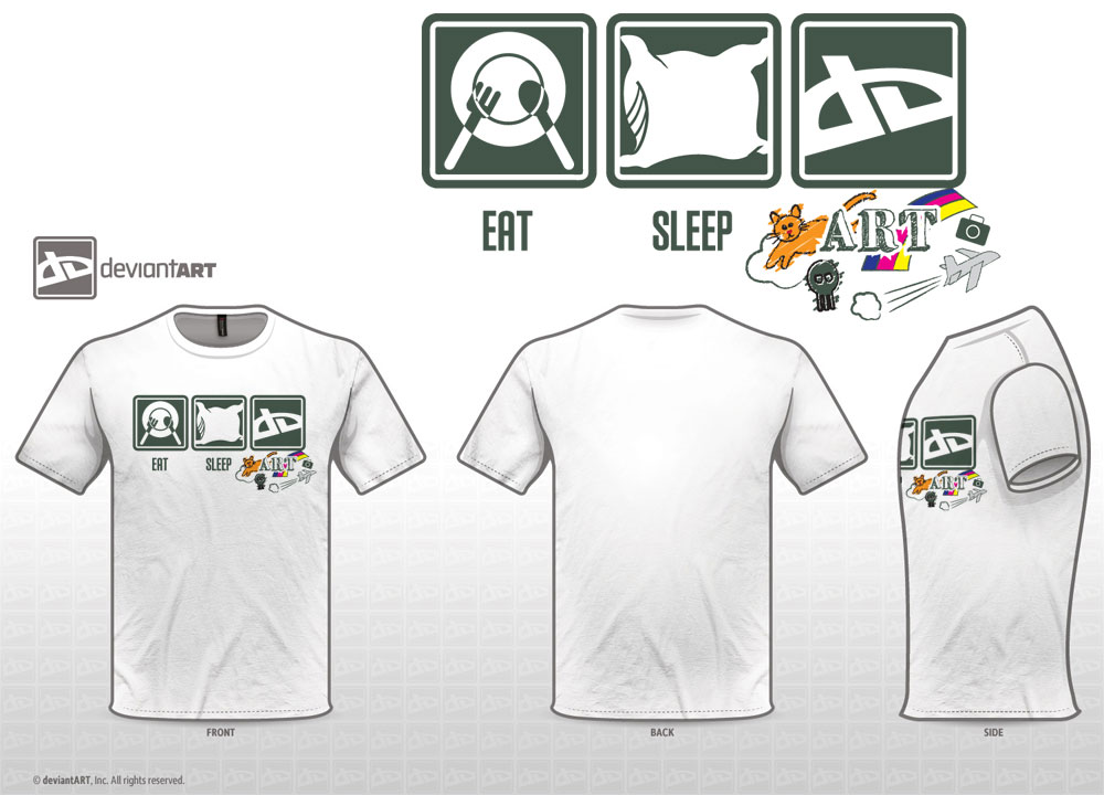 Eat Sleep ART t-shirt entry by Pooky-di-Bear