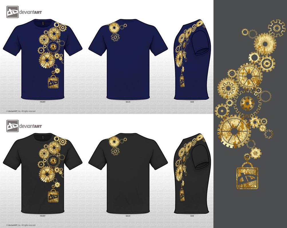 Steampunk dA t-shirt entry by Pooky-di-Bear